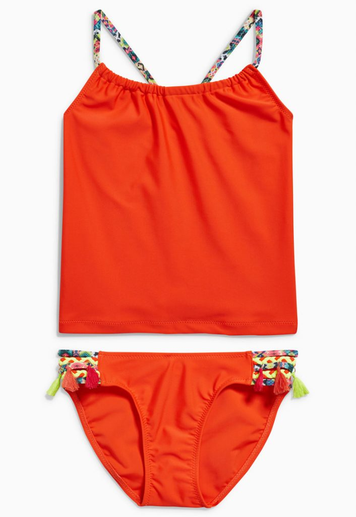 tankini orange cu bretele